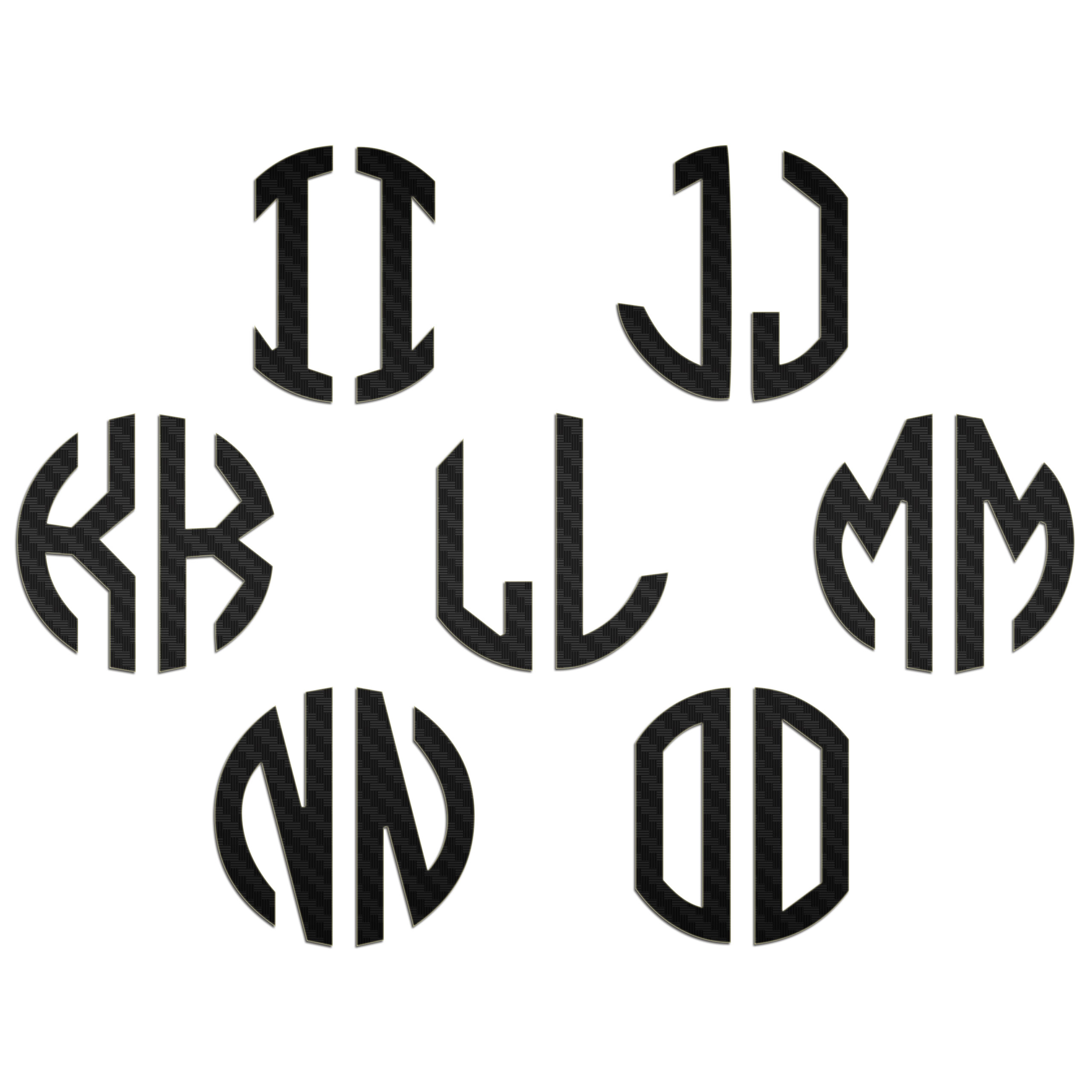 JasonCarlMorgan-JCM-Graphics-Personalised-Initials-Monogram-Sticker thumbnail 3