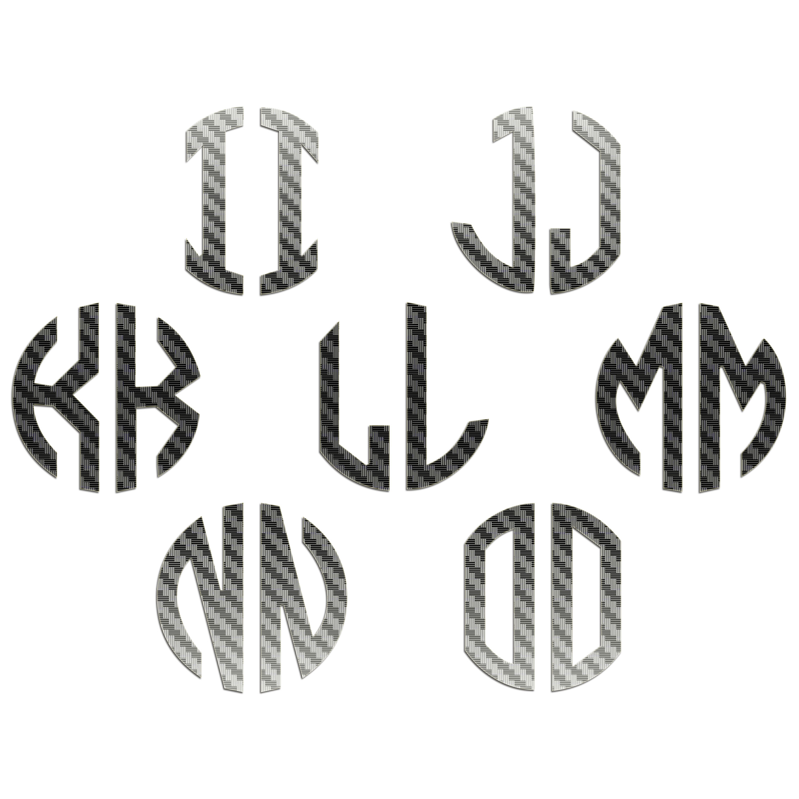 JasonCarlMorgan-JCM-Graphics-Personalised-Initials-Monogram-Sticker thumbnail 7