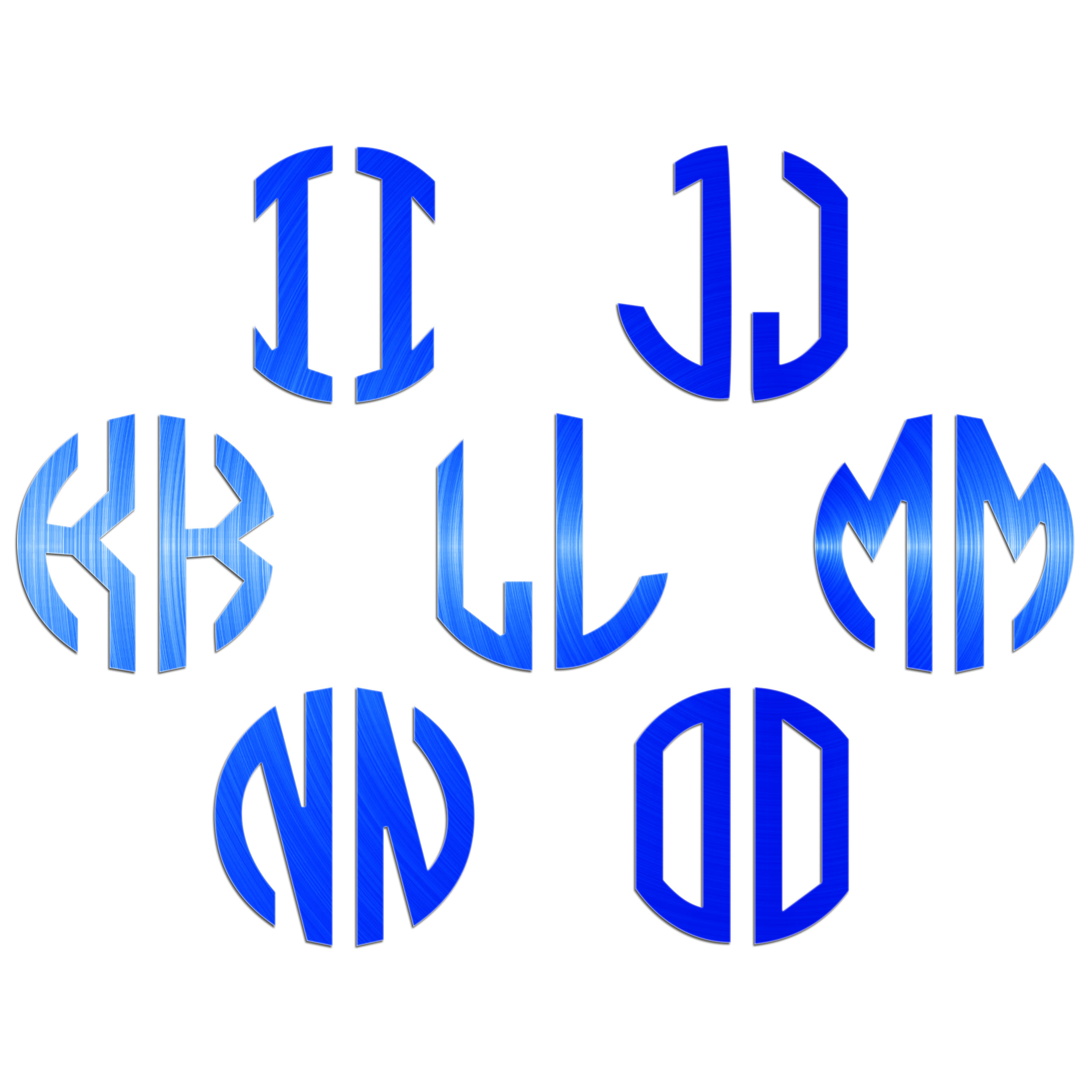 JasonCarlMorgan-JCM-Graphics-Personalised-Initials-Monogram-Sticker thumbnail 11