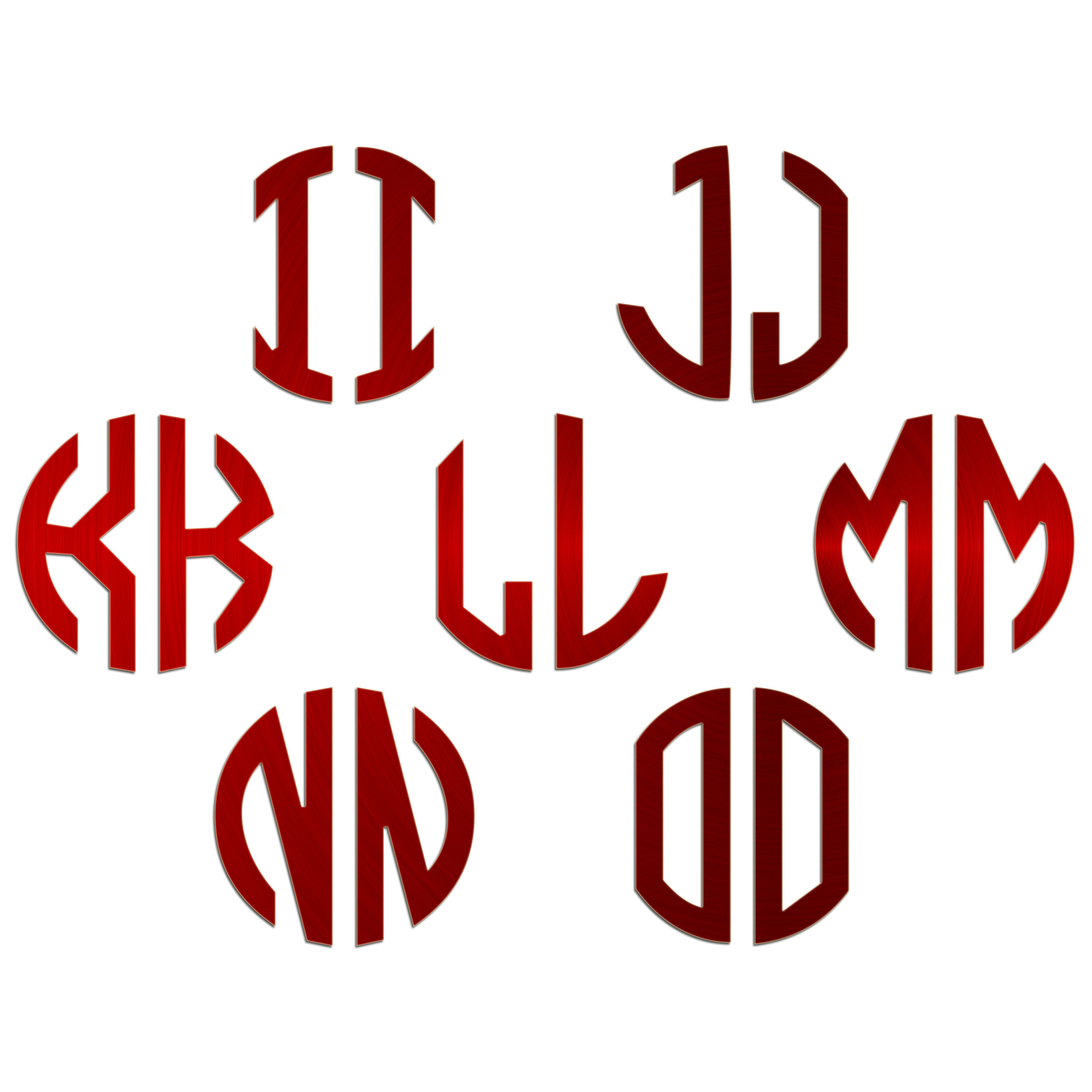JasonCarlMorgan-JCM-Graphics-Personalised-Initials-Monogram-Sticker thumbnail 15