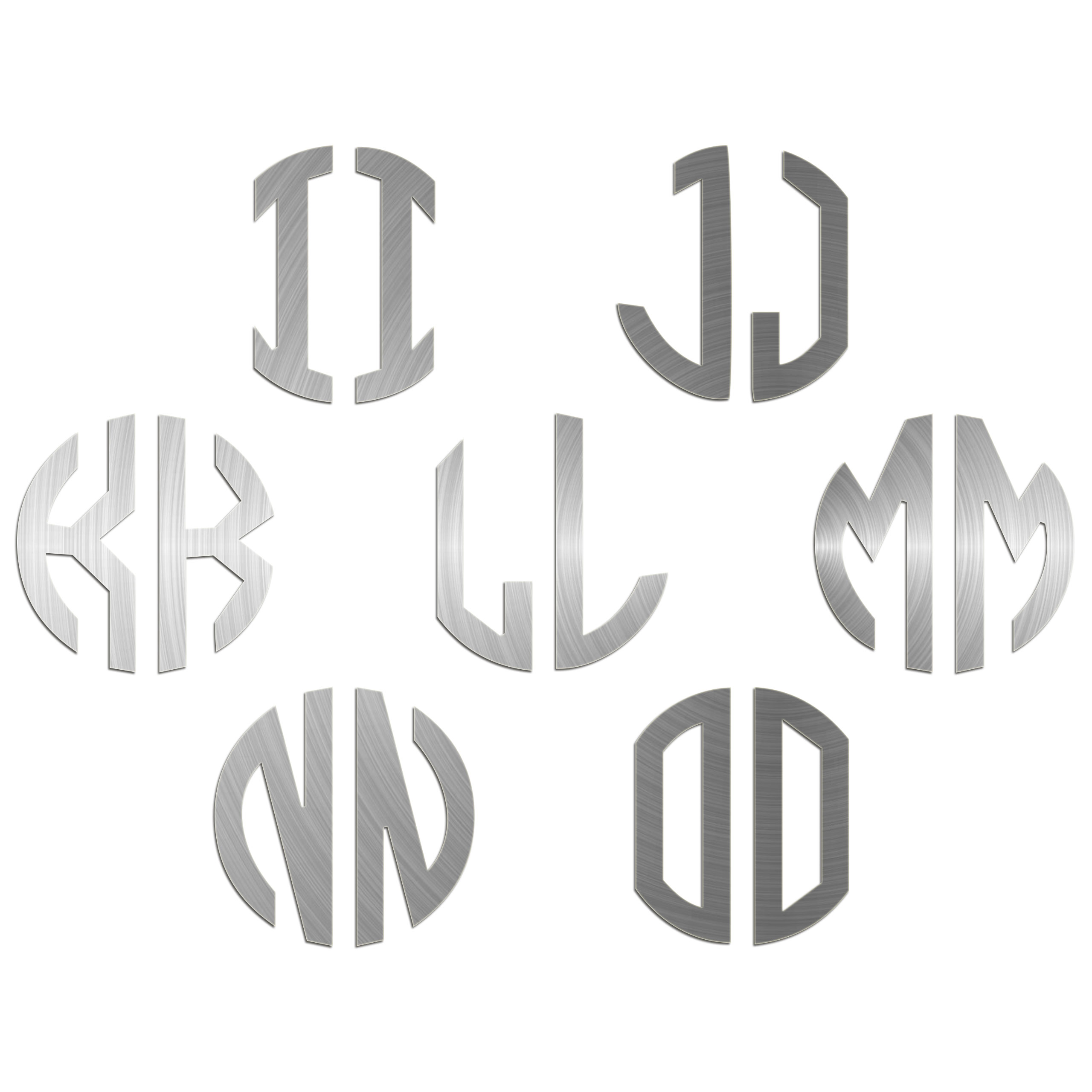 JasonCarlMorgan-JCM-Graphics-Personalised-Initials-Monogram-Sticker thumbnail 19