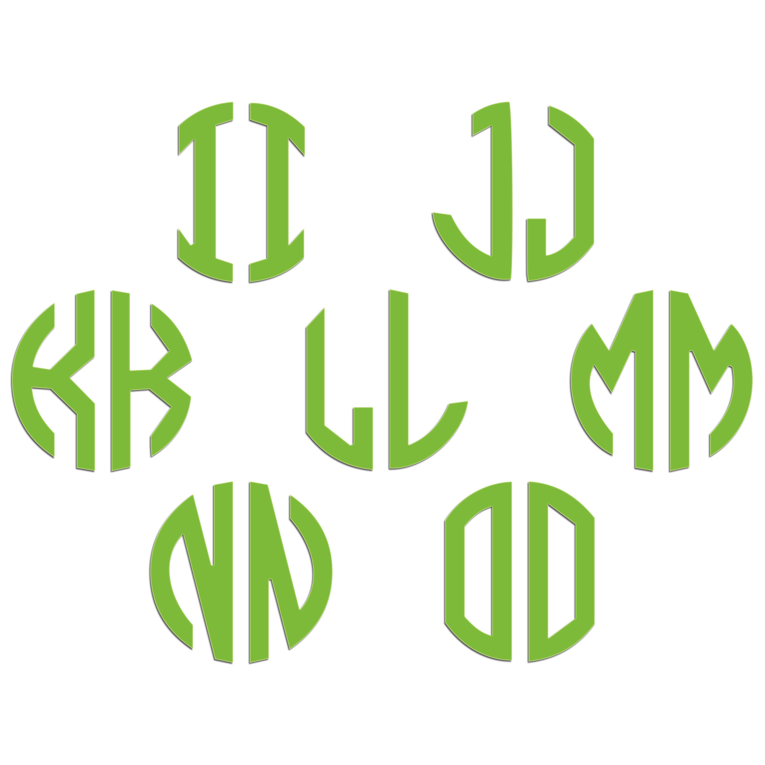JasonCarlMorgan-JCM-Graphics-Personalised-Initials-Monogram-Sticker thumbnail 35