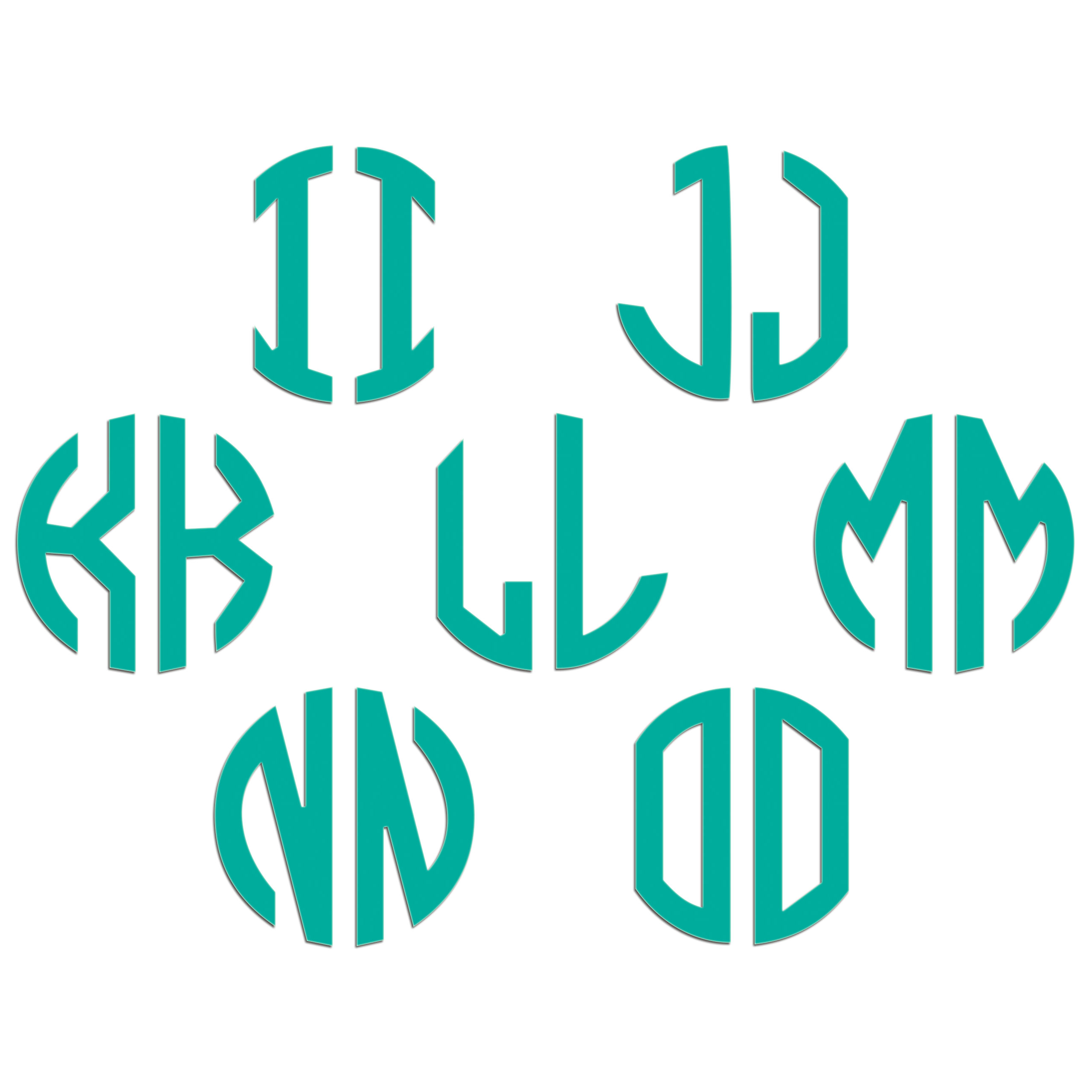 JasonCarlMorgan-JCM-Graphics-Personalised-Initials-Monogram-Sticker thumbnail 39
