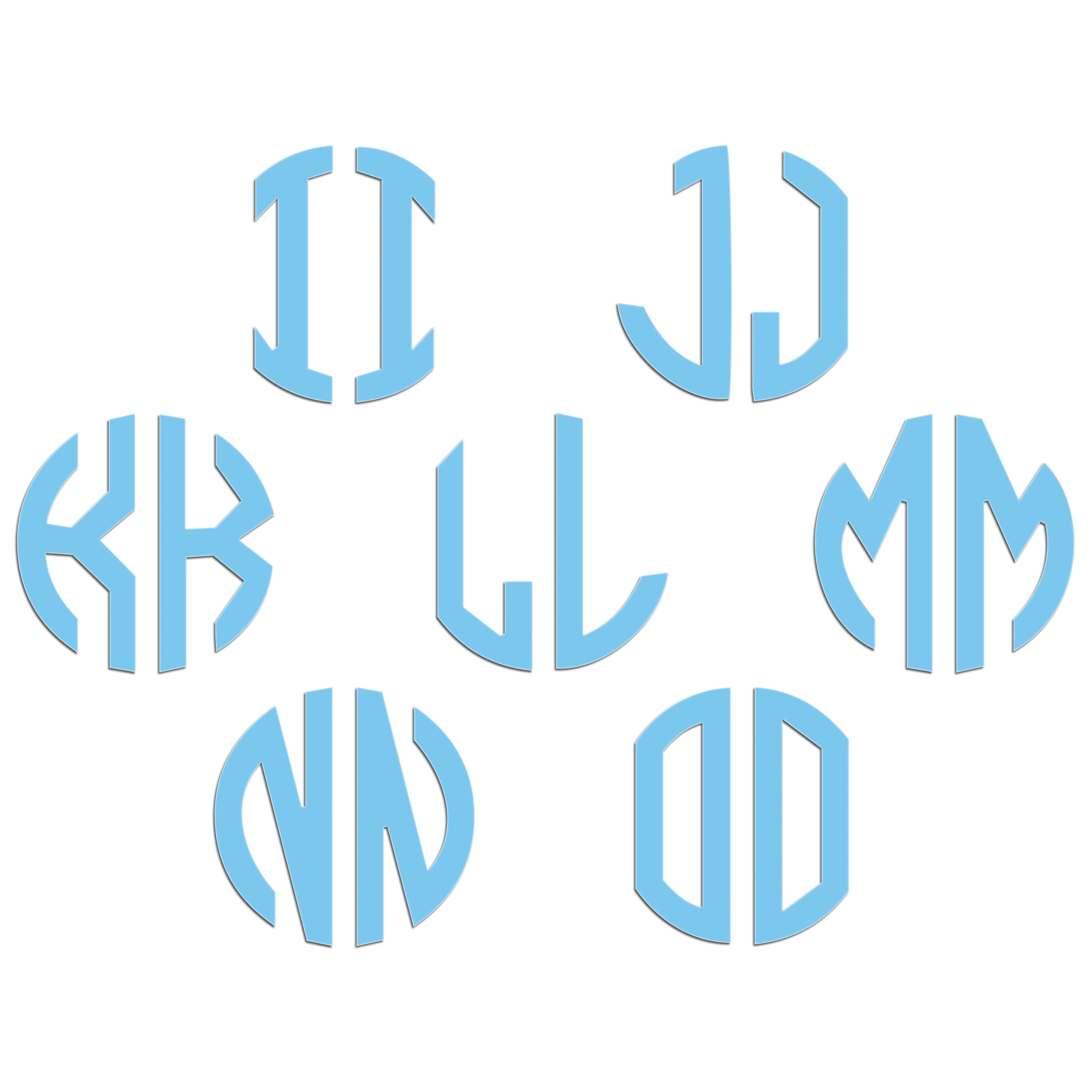 JasonCarlMorgan-JCM-Graphics-Personalised-Initials-Monogram-Sticker thumbnail 43
