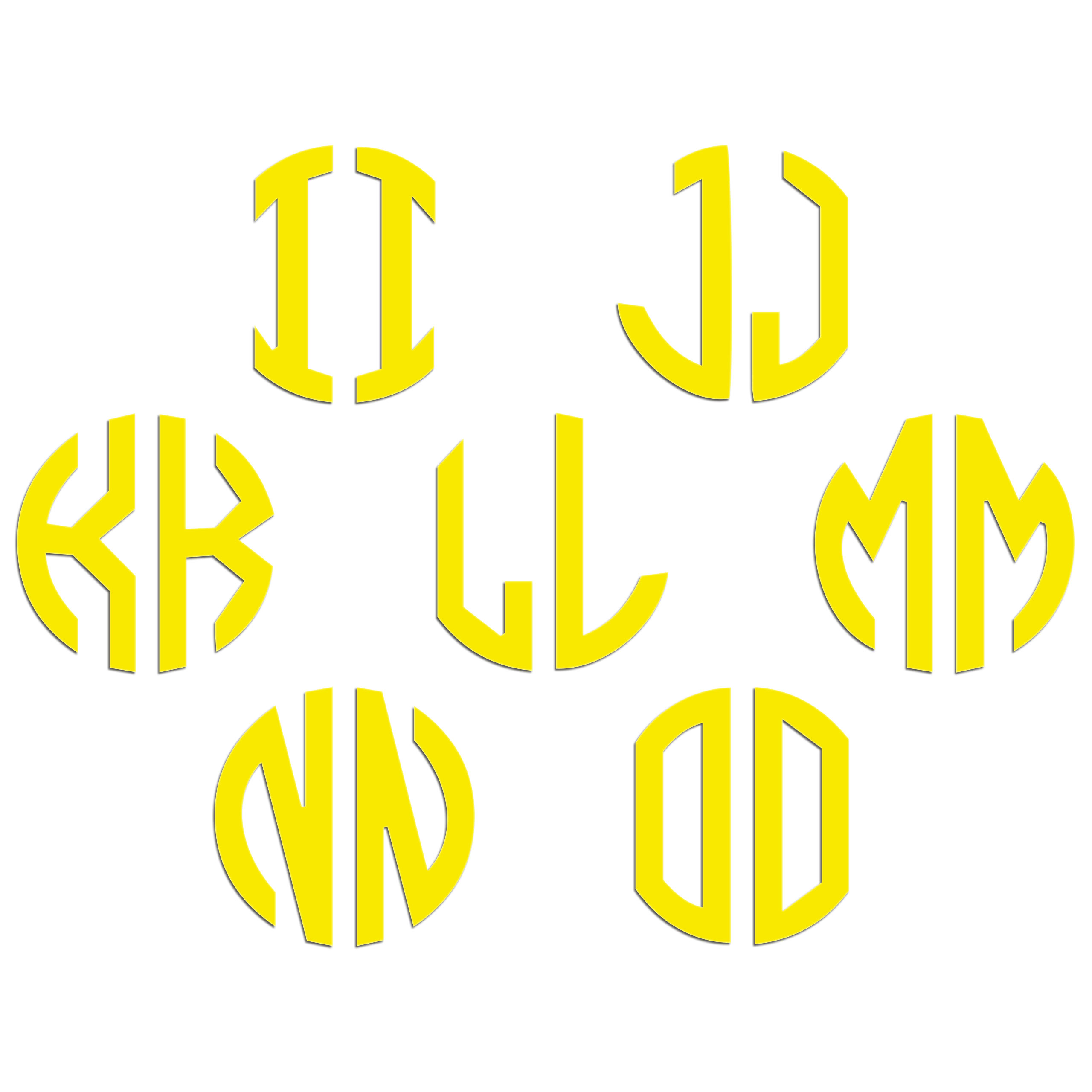 JasonCarlMorgan-JCM-Graphics-Personalised-Initials-Monogram-Sticker thumbnail 51