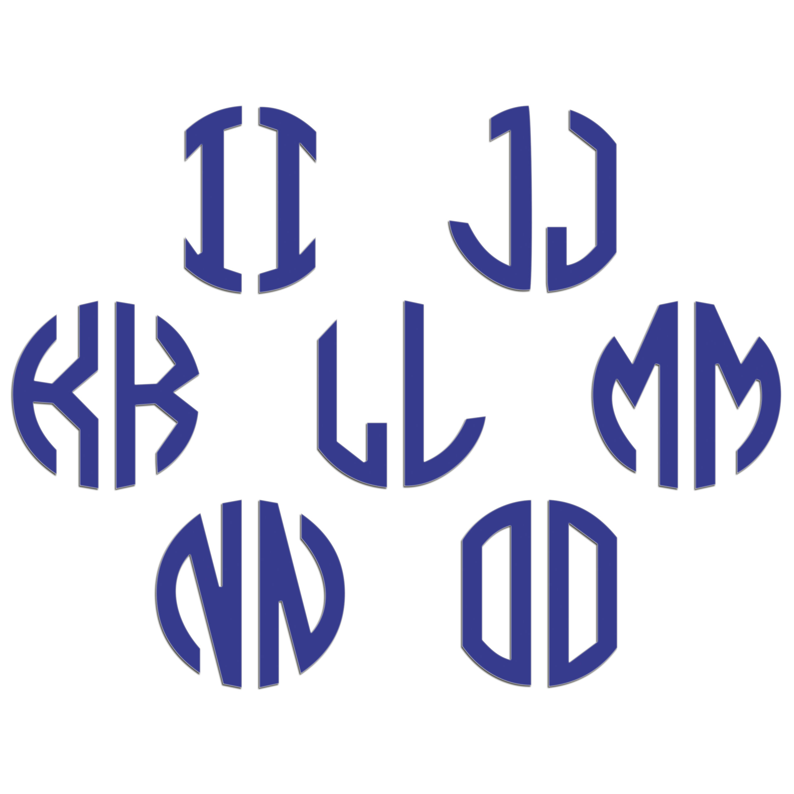 JasonCarlMorgan-JCM-Graphics-Personalised-Initials-Monogram-Sticker thumbnail 55