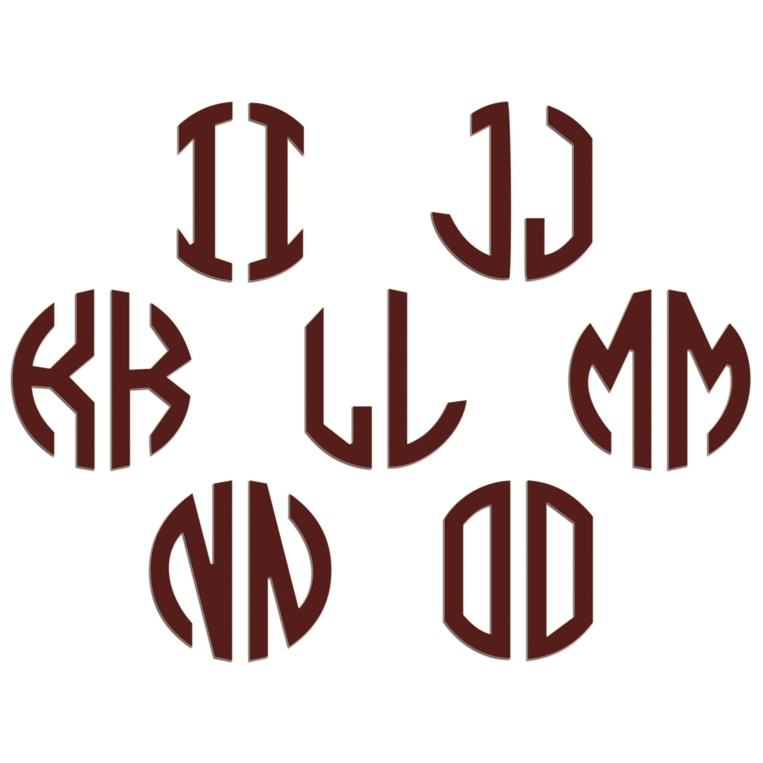 JasonCarlMorgan-JCM-Graphics-Personalised-Initials-Monogram-Sticker thumbnail 59