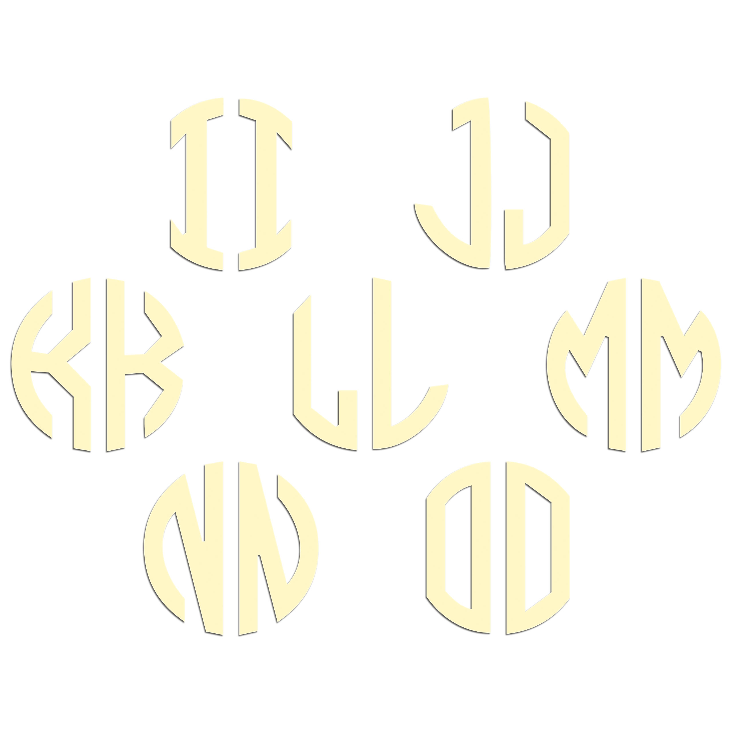 JasonCarlMorgan-JCM-Graphics-Personalised-Initials-Monogram-Sticker thumbnail 71