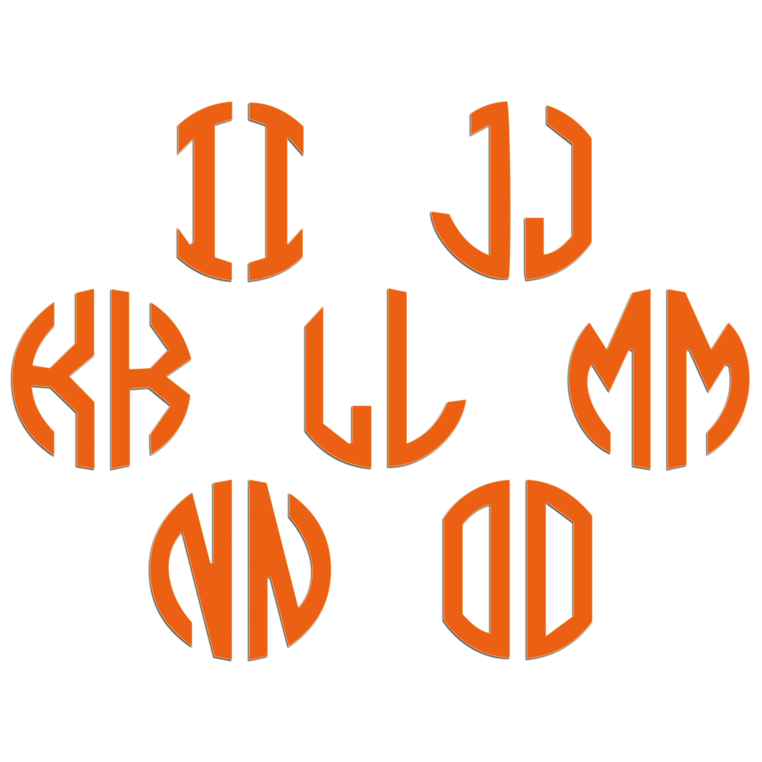 JasonCarlMorgan-JCM-Graphics-Personalised-Initials-Monogram-Sticker thumbnail 83