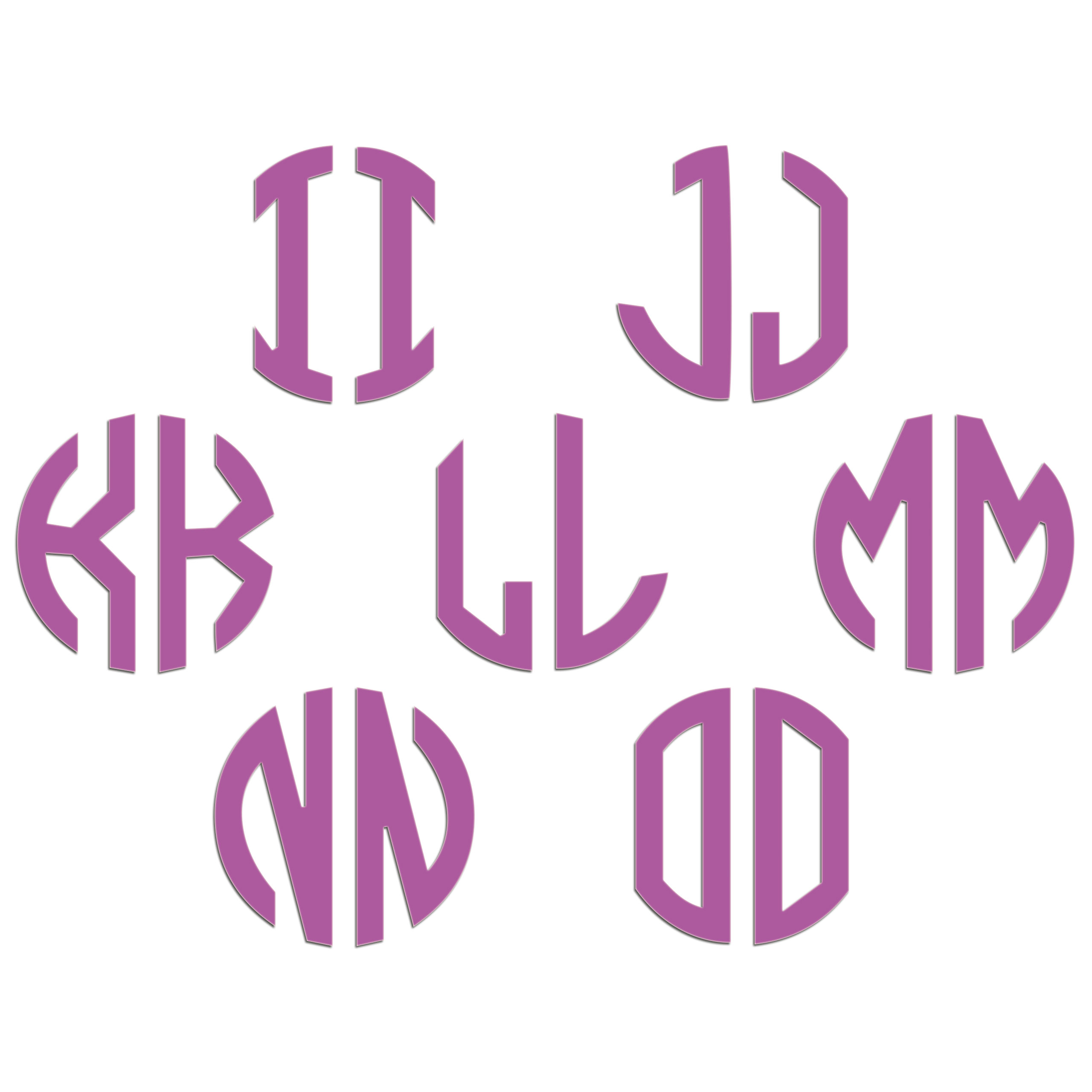 JasonCarlMorgan-JCM-Graphics-Personalised-Initials-Monogram-Sticker thumbnail 91