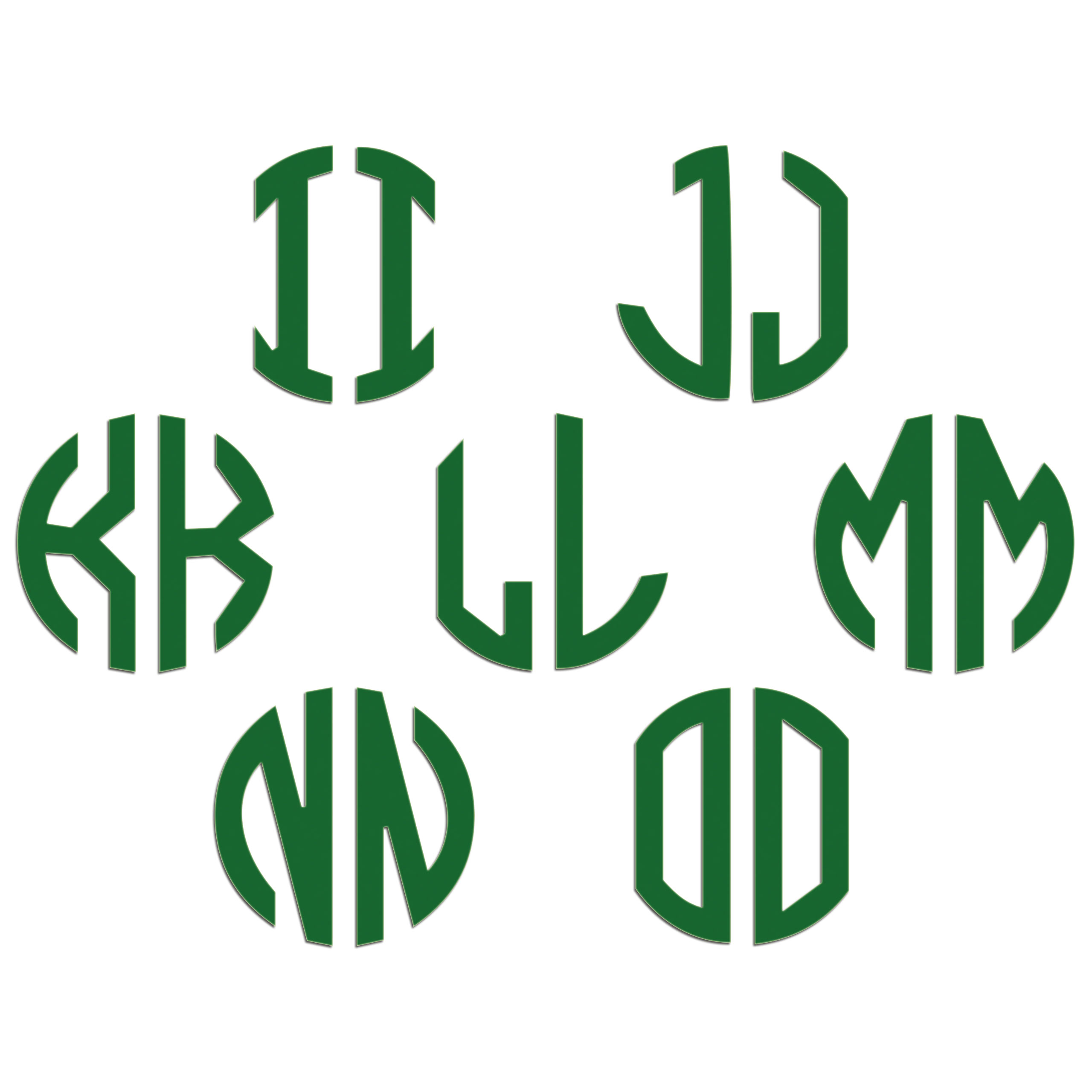 JasonCarlMorgan-JCM-Graphics-Personalised-Initials-Monogram-Sticker thumbnail 95