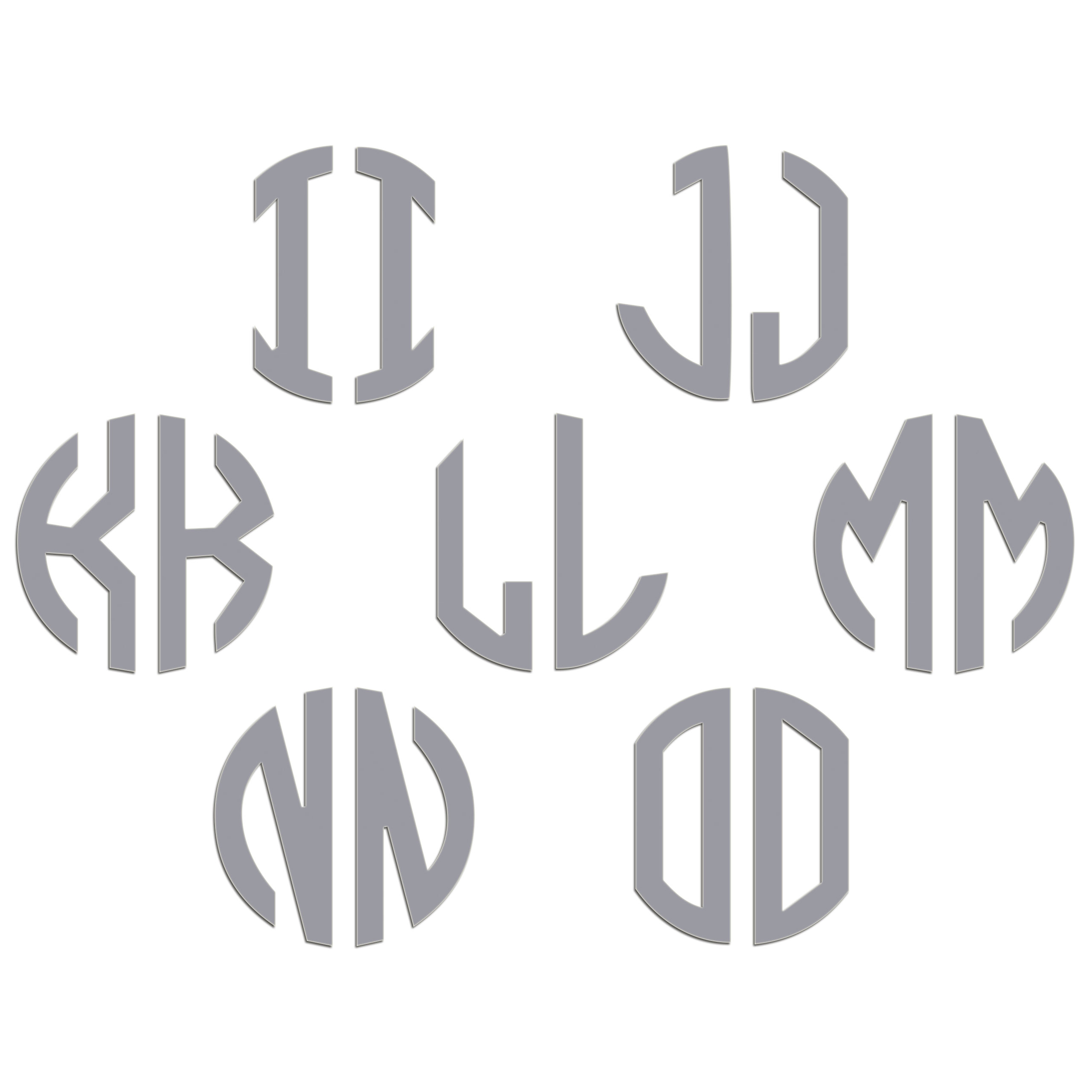 JasonCarlMorgan-JCM-Graphics-Personalised-Initials-Monogram-Sticker thumbnail 99