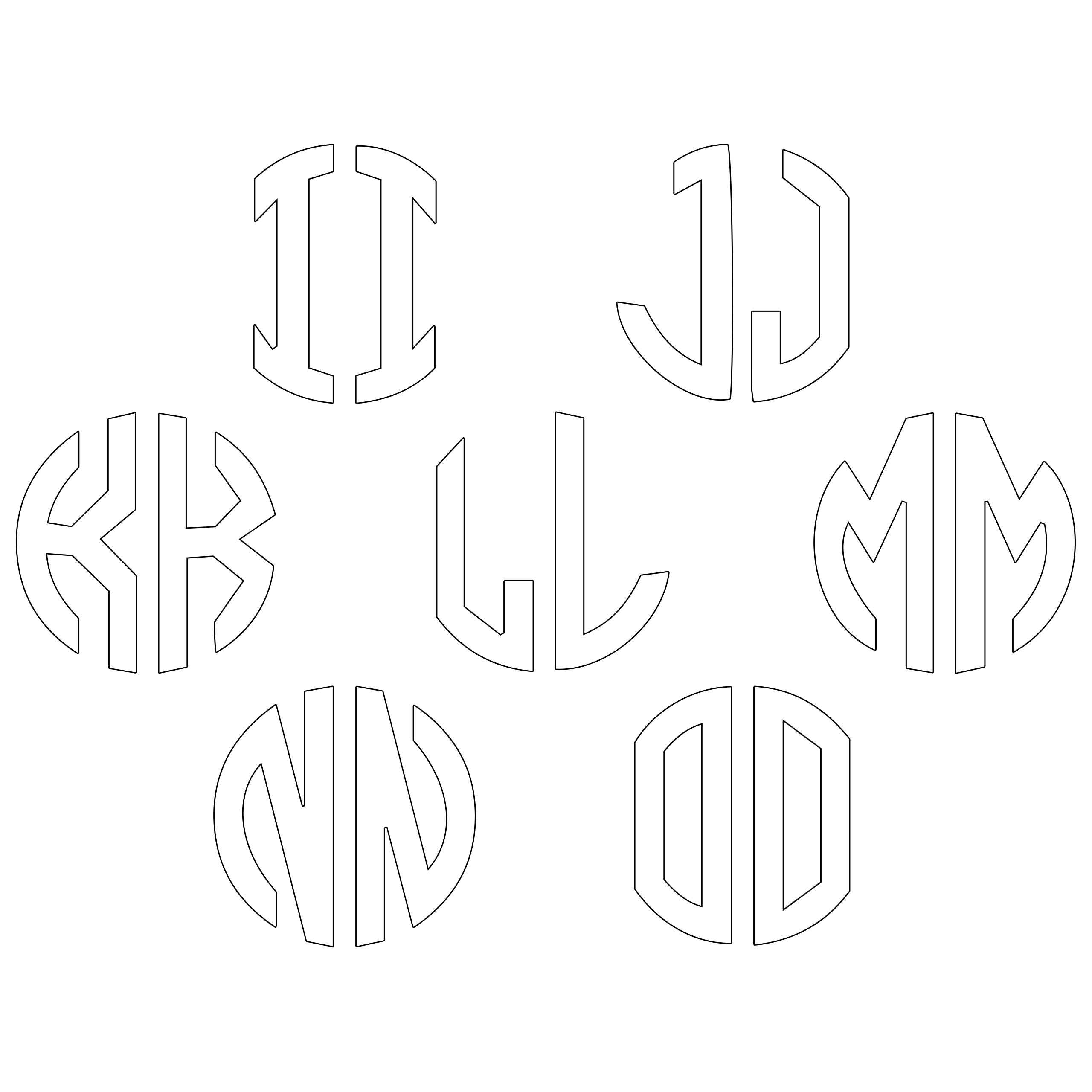 JasonCarlMorgan-JCM-Graphics-Personalised-Initials-Monogram-Sticker thumbnail 103