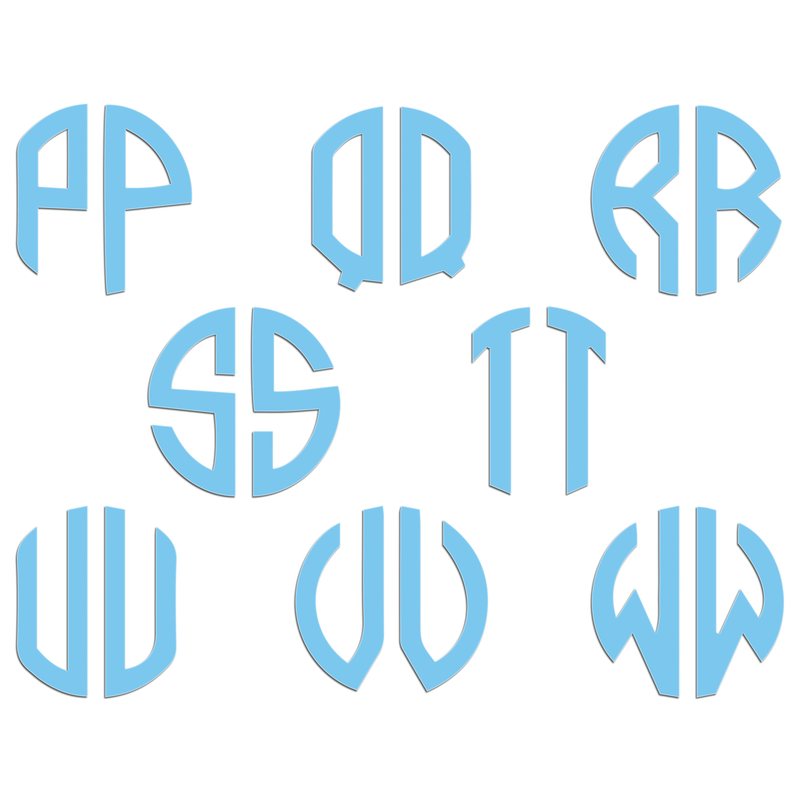 JasonCarlMorgan-JCM-Graphics-Personalised-Initials-Monogram-Sticker thumbnail 44