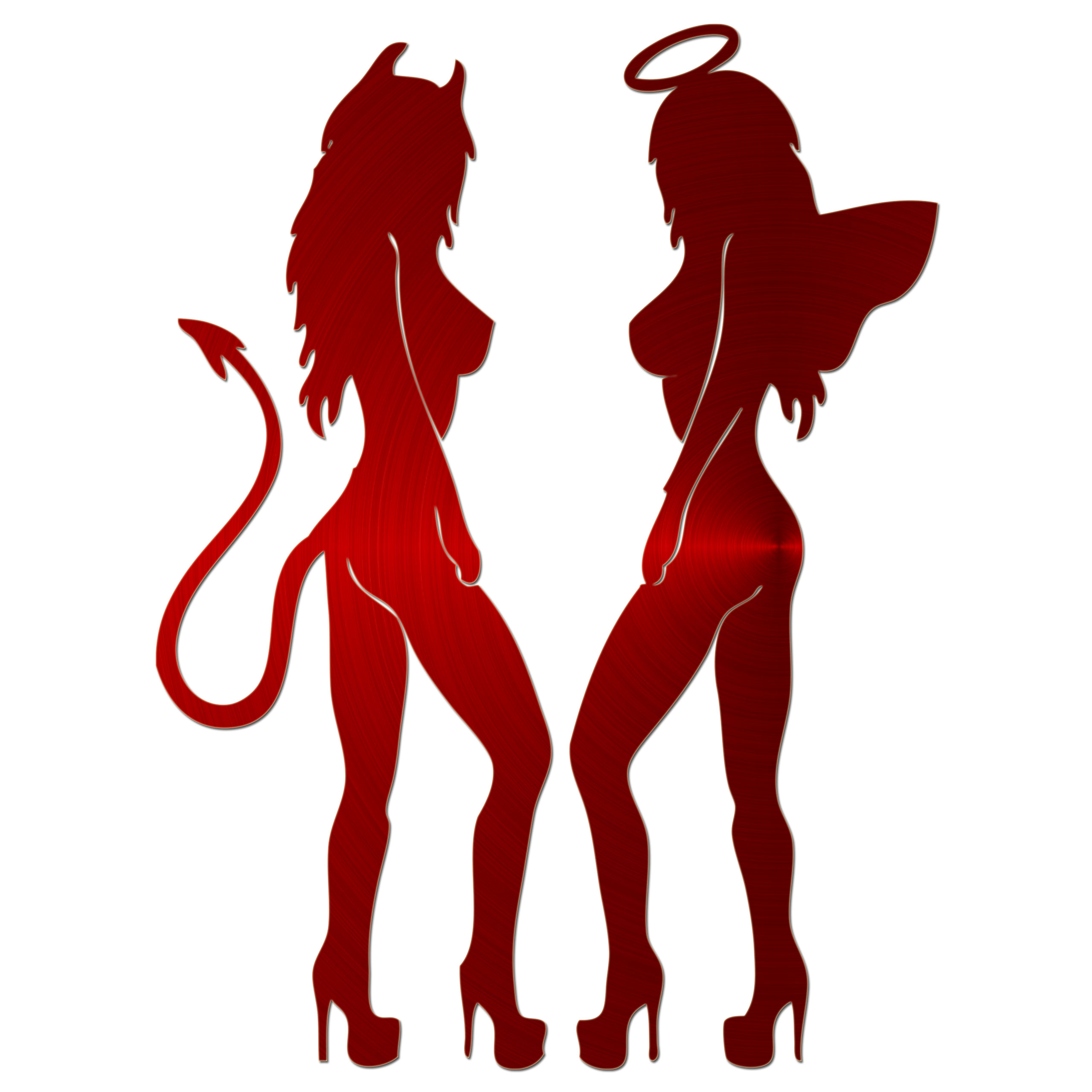 Jasoncarlmorgan jcm graphics sexy angel sexy devil sticker
